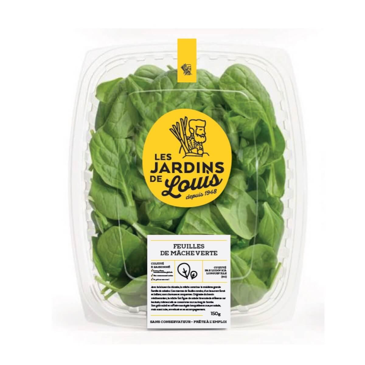 Feuilles de Mâche vertes, Les Jardins de Louis