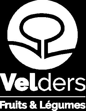 Logo Velders blanc, le référent de la distribution de fruits et légumes en Nord-Pas-de-Calais
